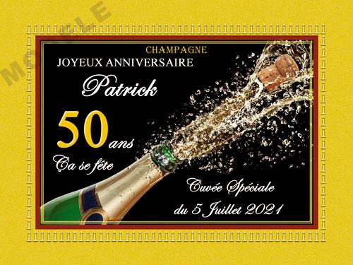 etiquette de champagne personnalisable pour anniversaire can 01