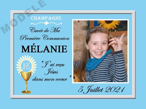 etiquette de champagne personnalisable pour communion com 01
