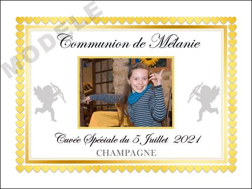 etiquette de champagne personnalisable pour communion com 03