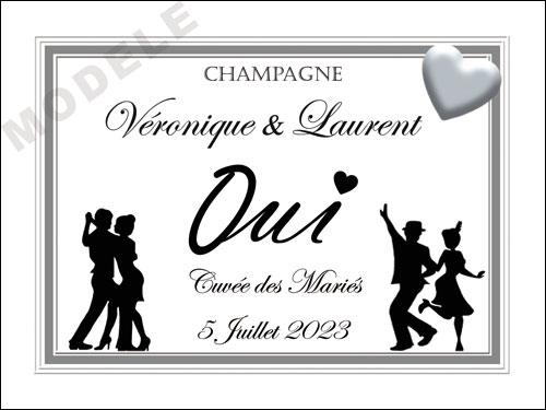 etiquette de champagne personnalisable pour mariage ema 01