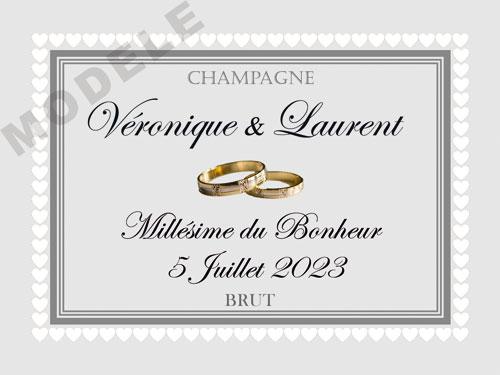 etiquette de champagne personnalisable pour mariage ema 02