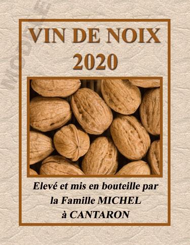 étiquette personnalisée pour bouteille de vin de noix evn 01
