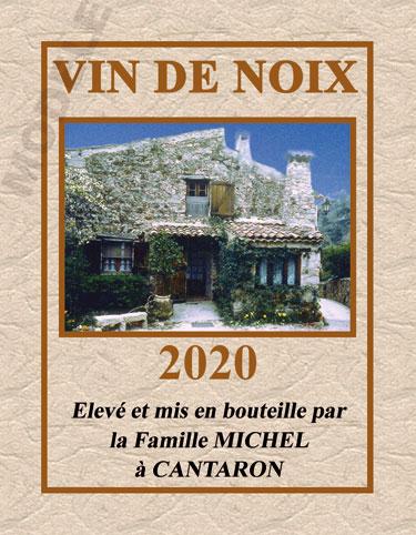 étiquette personnalisée pour bouteille de vin de noix evn 02