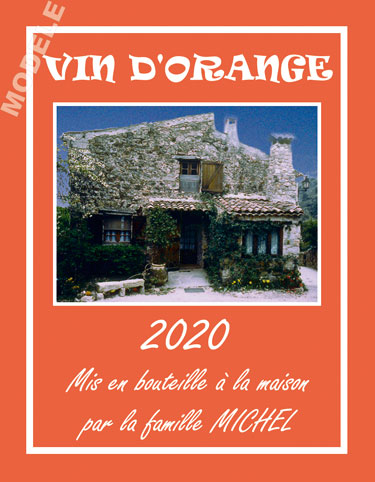 étiquette personnalisée pour bouteille de vin d'orange evo 01
