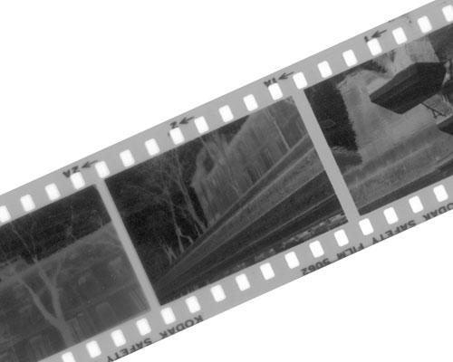 tirage photo de négatif noir et blanc