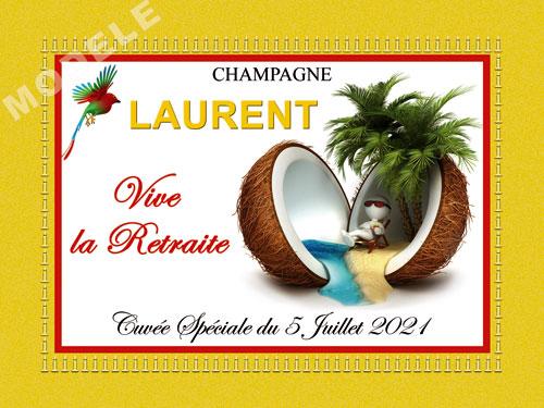 etiquette de champagne personnalisable pour retraite ret 01