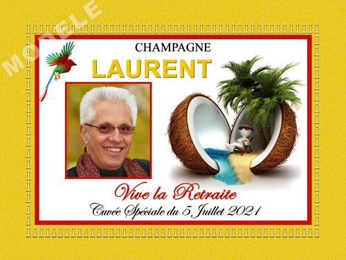 etiquette de champagne personnalisable pour retraite ret 02