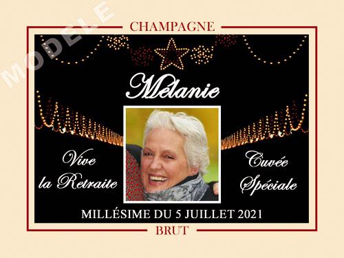 etiquette de champagne personnalisable pour retraite ret 03