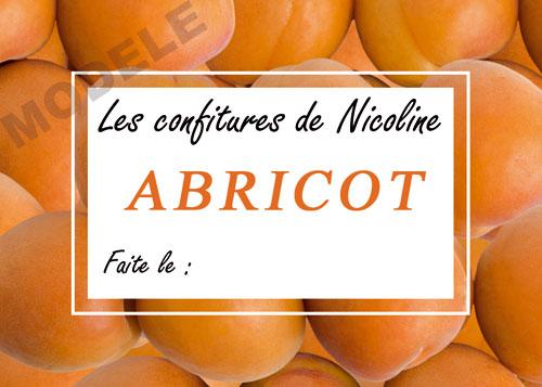 étiquette personnalisée pour confiture d'abricot abr 01