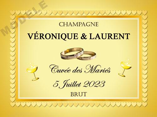 etiquette de champagne personnalisable pour mariage aema 29