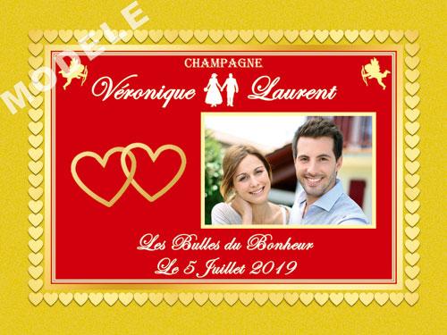 etiquette de champagne personnalisable pour mariage aema 33