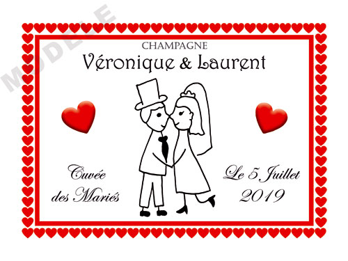 etiquette de champagne personnalisable pour mariage aema 50