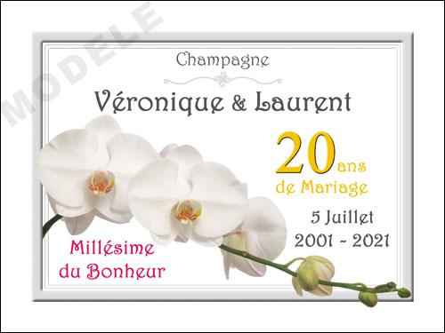 etiquette de champagne personnalisable pour anniversaire de mariage ani 19