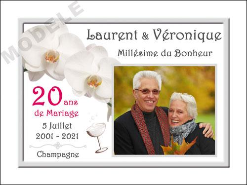 etiquette personnalisée anniversaire de mariage pour bouteille de champagne ani 20