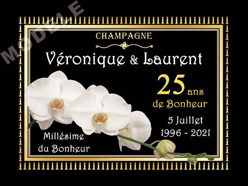 etiquette personnalisée anniversaire de mariage pour bouteille de champagne ani 21