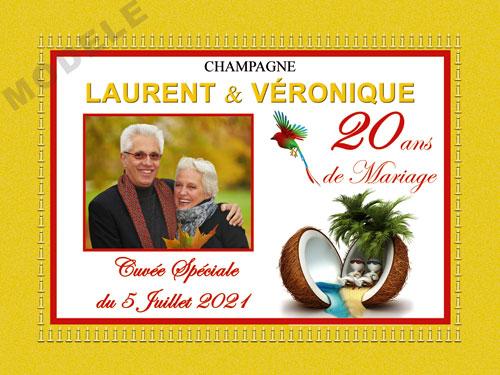 etiquette champagne anniversaire de mariage ani 30