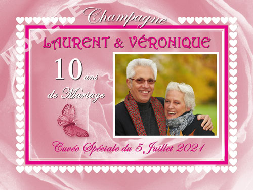 etiquette champagne anniversaire de mariage ani 31
