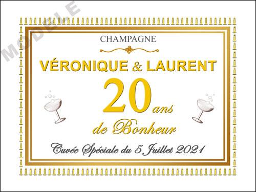 etiquette champagne anniversaire de mariage ani 32