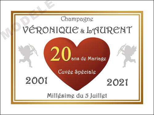 etiquette champagne anniversaire de mariage ani 33