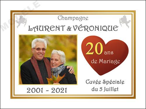 etiquette champagne anniversaire de mariage ani 34