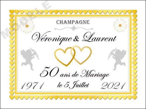 etiquette champagne anniversaire de mariage ani 35