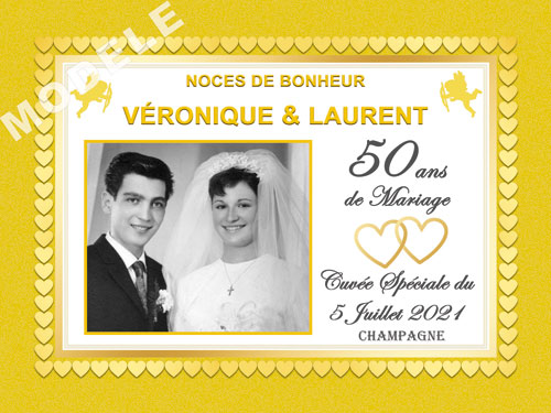etiquette champagne anniversaire de mariage ani 36