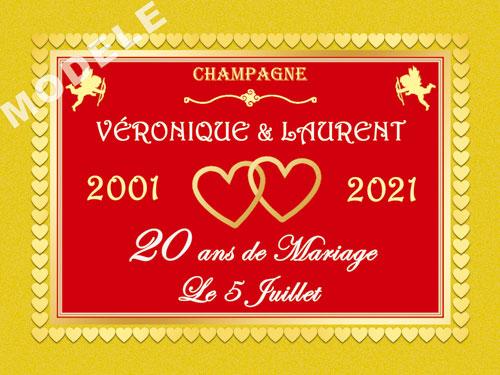 etiquette champagne anniversaire de mariage ani 37