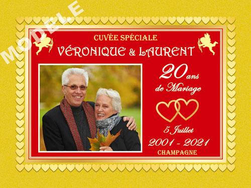 etiquette champagne anniversaire de mariage ani 38