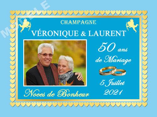 etiquette champagne anniversaire de mariage ani 39