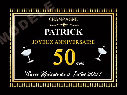 etiquette de champagne personnalisable pour anniversaire can 05