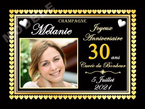 etiquette de champagne personnalisable pour anniversaire can 08