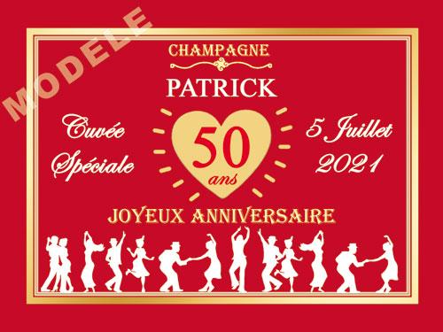 etiquette de champagne personnalisable pour anniversaire can 09