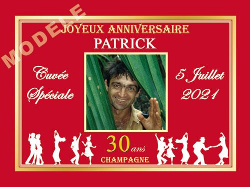 etiquette de champagne personnalisable pour anniversaire can 10