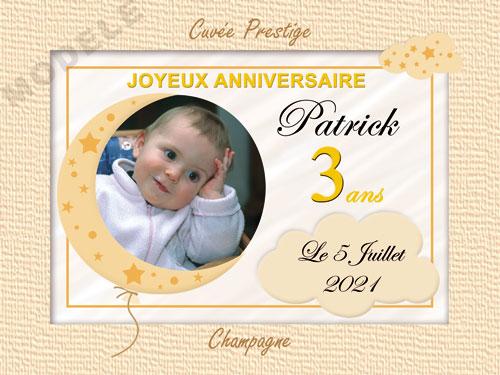 etiquette de champagne personnalisable pour anniversaire can 14
