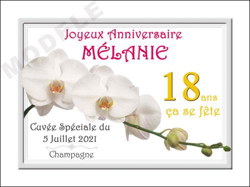 etiquette personnalisée anniversaire pour bouteille de champagne can 26