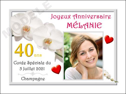 etiquette personnalisée anniversaire pour bouteille de champagne can 27