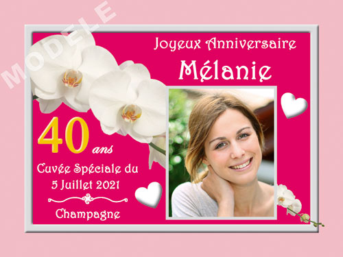 etiquette personnalisée anniversaire pour bouteille de champagne can 28