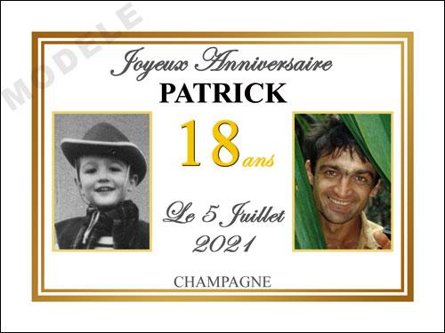 etiquette anniversaire pour bouteille de champagne can 40