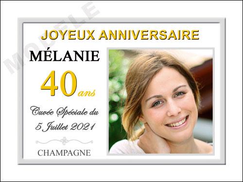 etiquette anniversaire pour bouteille de champagne can 41