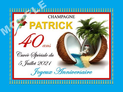 etiquette anniversaire pour bouteille de champagne can 45