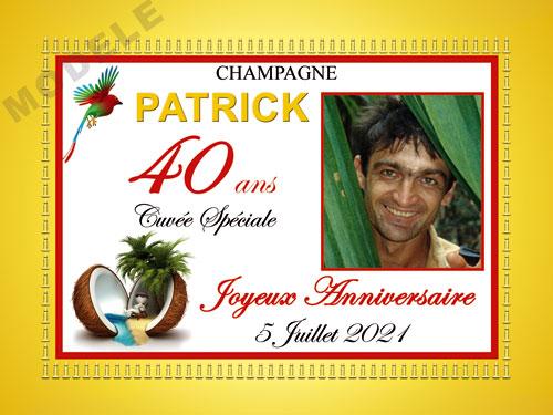 etiquette anniversaire pour bouteille de champagne can 47