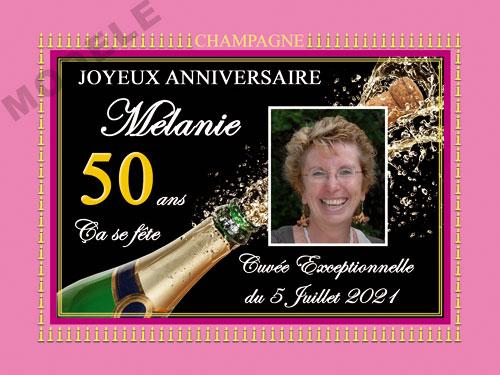 etiquette anniversaire pour bouteille de champagne can 51