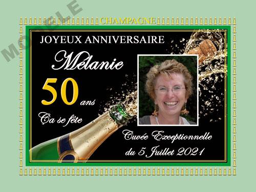 etiquette anniversaire pour bouteille de champagne can 52