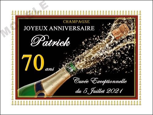 etiquette anniversaire pour bouteille de champagne can 53