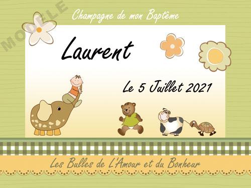 etiquette de champagne personnalisable pour baptême eba 09