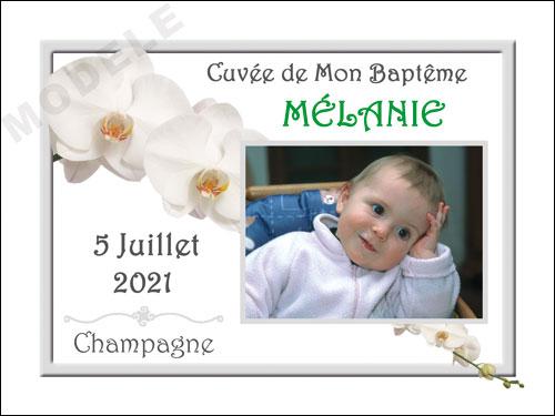 etiquette de champagne personnalisable pour baptême eba 18