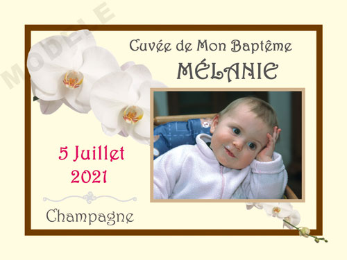 etiquette de champagne personnalisable pour baptême eba 19
