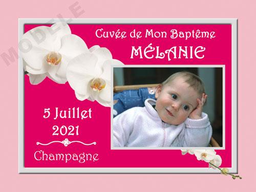 etiquette personnalisée baptême pour bouteille de champagne eba 21