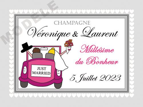 etiquette de champagne personnalisable pour mariage ema 07