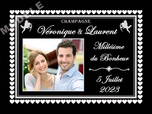 etiquette de champagne personnalisable pour mariage ema 08